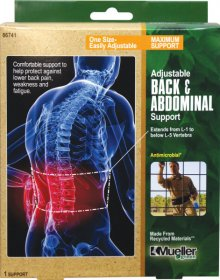 Mueller Sports Medicine Green Adjustable Back & Abdominal Support