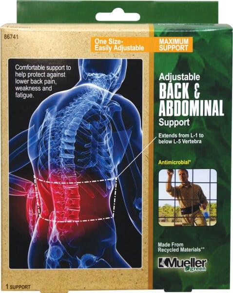 Mueller Sports Medicine Green Adjustable Back & Abdominal Support