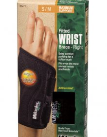Mueller Sports Medicine Green Fitted Wrist Brace