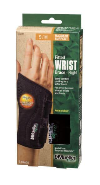 Mueller Sports Medicine Green Fitted Wrist Brace