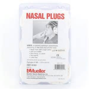 Mueller Sports Medicine Cotton Nasal Plugs