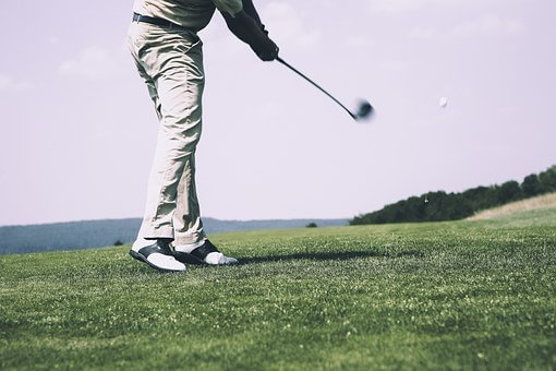 Man Playing Golf - Use A Back Brace To Prevent Injury From Over Rotation