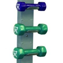 CanDo® Vinyl Coated Dumbbells - 10-Piece Set with Wall Rack