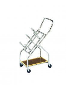 CanDo® Iron Disc Weight Plates - Mobile Cart