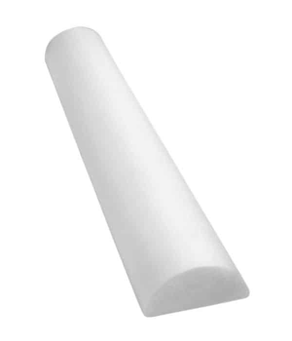 CanDo® Foam Roller - Full-Skin - White PE Foam