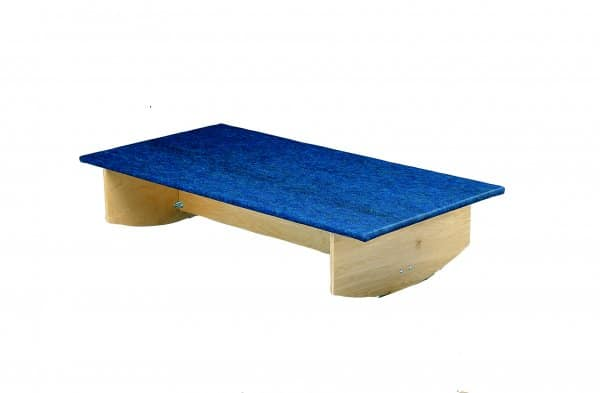 CanDo® Rocker Board - Wooden with Carpet