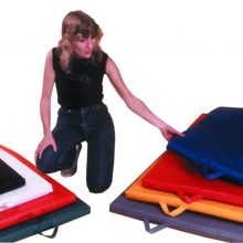 "CanDo® Mat with Handle - Non Folding - 1 3/8"" EnviroSafe® Foam with Cover"