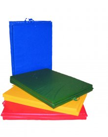 "CanDo® Mat with Handle - Center Fold - 1 3/8"" EnviroSafe® Foam with Cover"