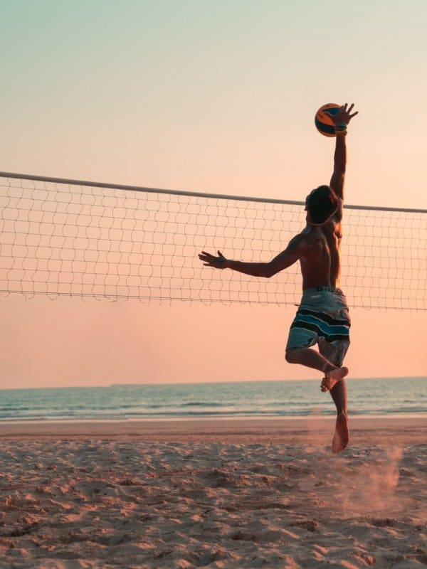 Leaping Volleyball Player