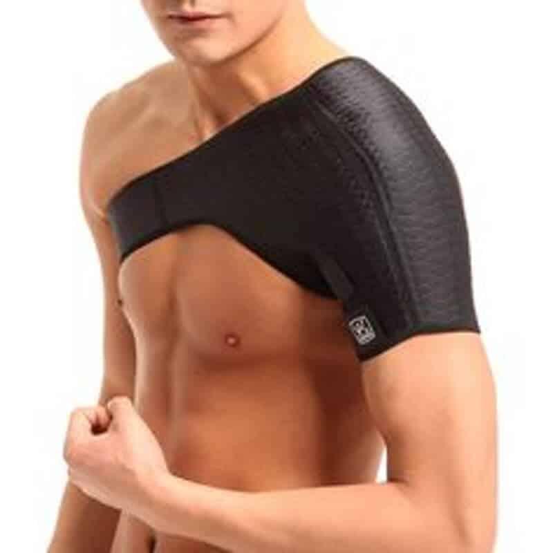 Man Wearing A Shoulder Brace
