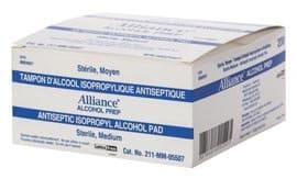 Alliance Antiseptic Isopropyl Alcohol Pads