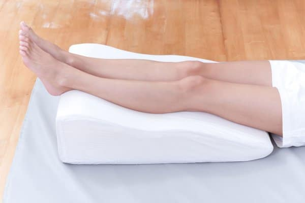 Lying on your back with legs elevated - a varicose veins treatment option to consider