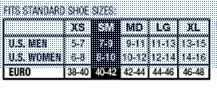 Mueller Sports Medicine Ankle Support - Size chart