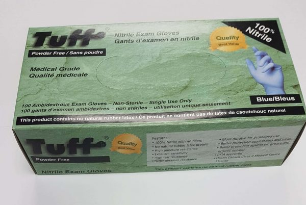 Wayne Safety Tuff Nitrile Exam Gloves