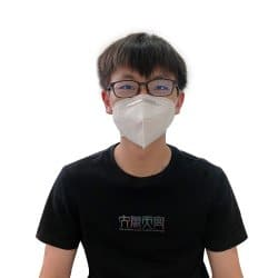 Front View of man wearing DynaPro KN95 Respirator