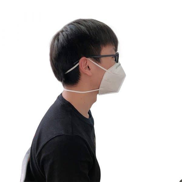 Man Wearing DynaPro KN95 Respirator - Side View