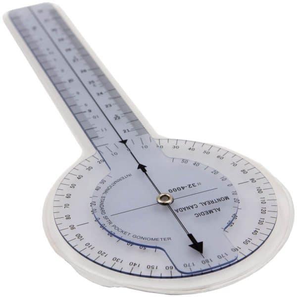 Plastic Goniometer, 12 inches, 360 degrees