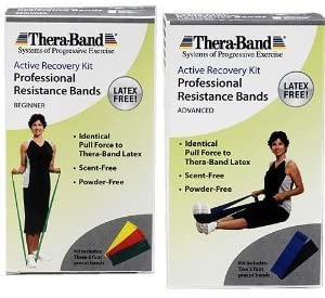 Theraband Active Recovery Workout Kit latex free
