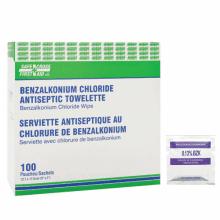 Benzalkonium chloride wipes